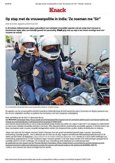 OP STAP MET DE VROUWENPOLITIE INDIA